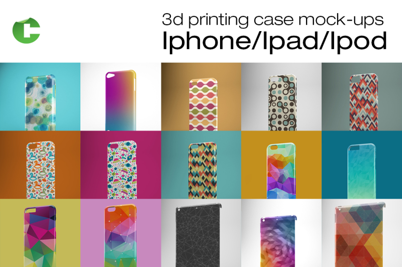 Free Iphone/Ipad/Ipod cases mock-up (PSD Mockups)
