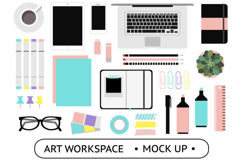 Free Art Workspace Mockups (PSD Mockups)