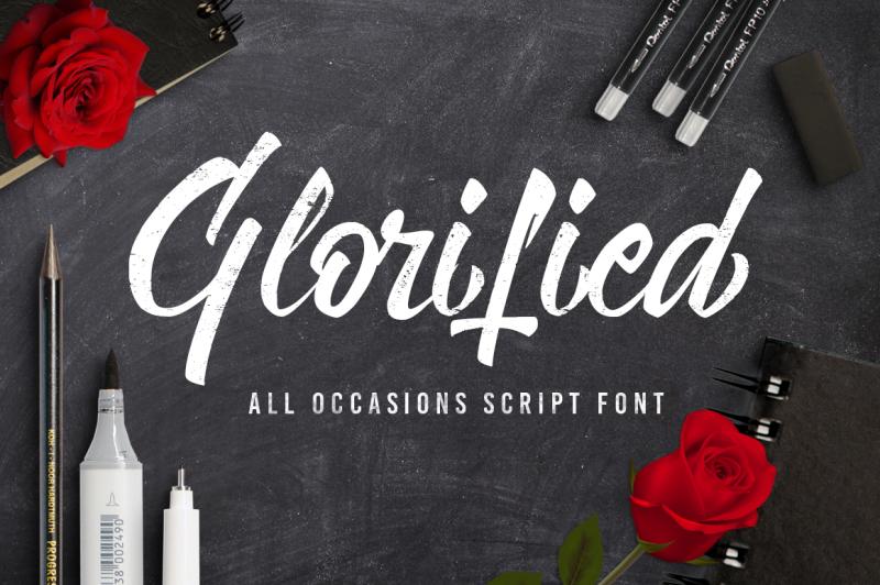 glorified-script-font