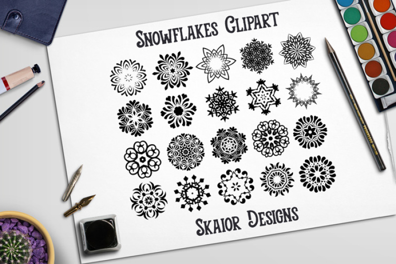 ornaments-snowflakes-clipart