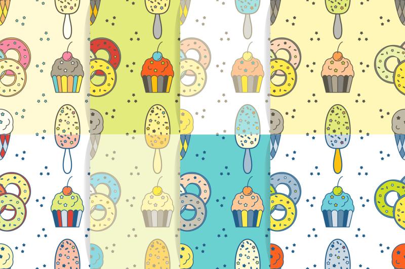tasty-seamless-pattern-set