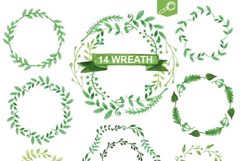 watercolor-green-branches-vector