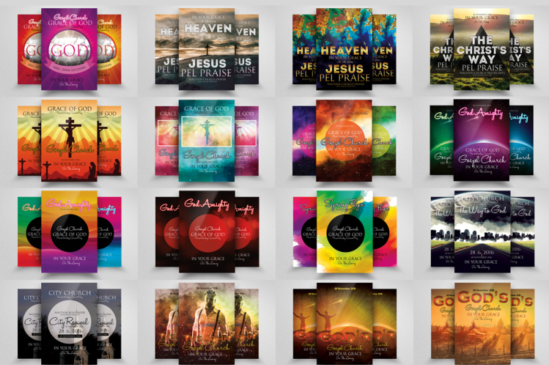 60-glorious-god-church-flyer-bundle
