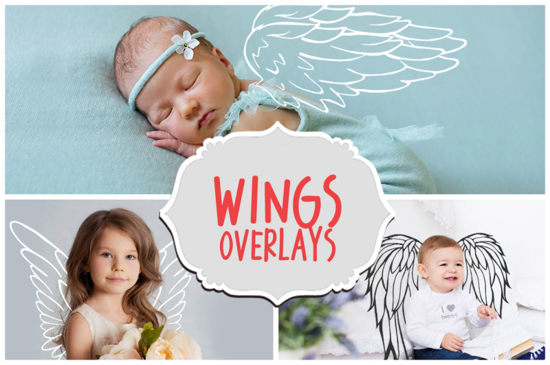 42 Angel Wings Overlays