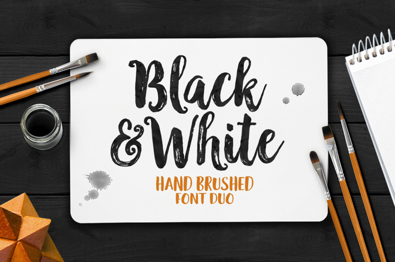 black-and-white-font-duo