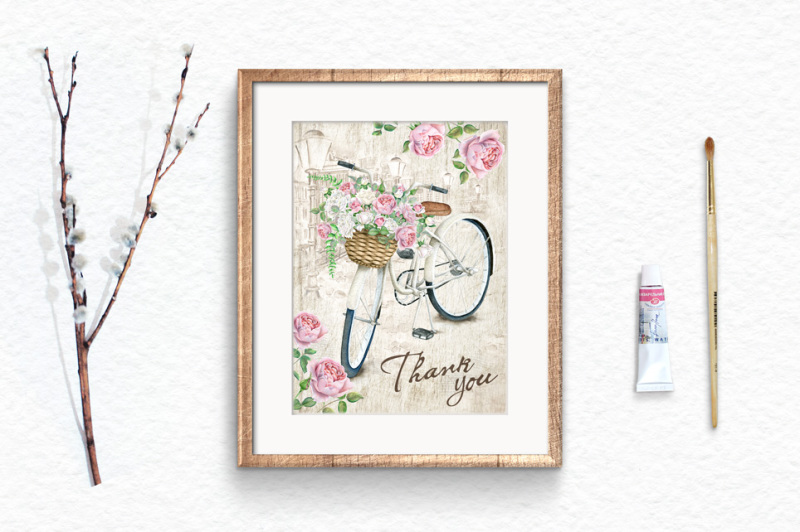 50-percentoff-watercolor-bicycles-and-flowers