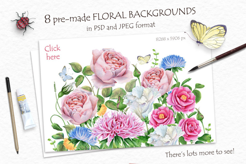30-percentoff-watercolor-flowers-and-bird