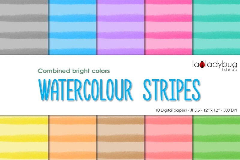 watercolor-stripes-digital-paper-combined-bright-colors
