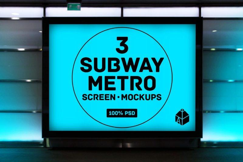 4-outdoor-ad-screen-mock-ups-set-bundle