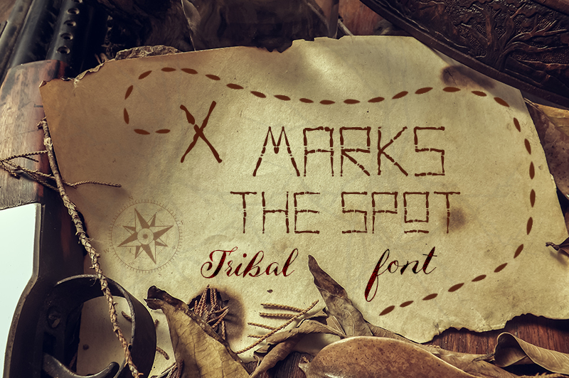 x-marks-the-spot-tribal-font