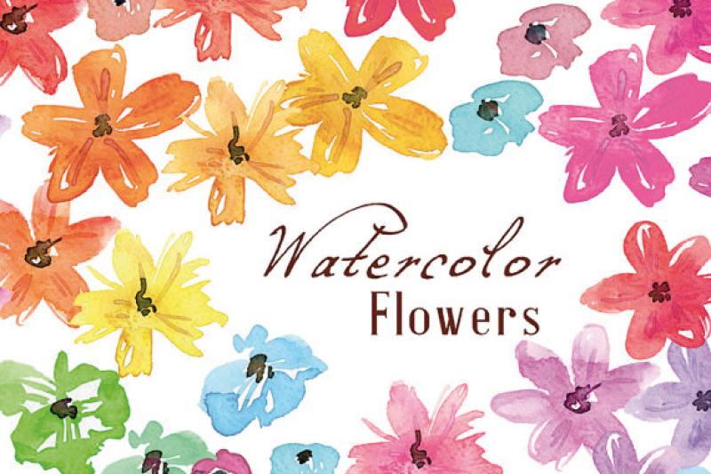 watercolor-flowers-hand-painted-meadow