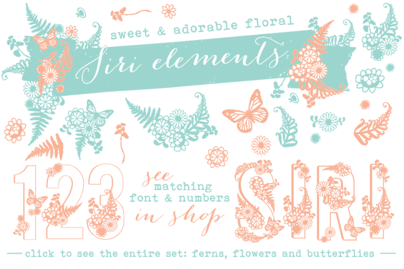 siri-floral-elements-font