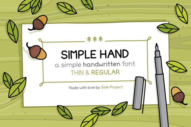 simple-hand-handwritten-font