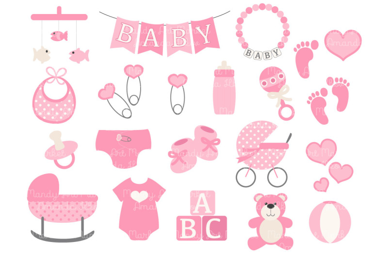 pink-vector-baby-items