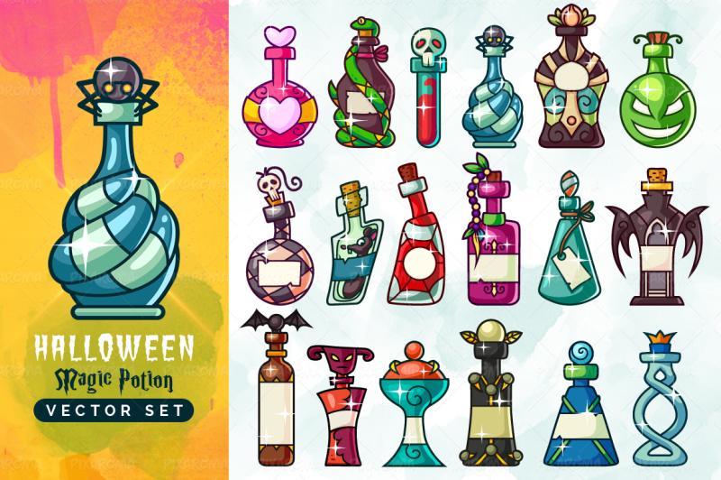 halloween-magic-potion-bottles-set
