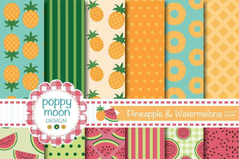 fruits-paper-and-clipart-set