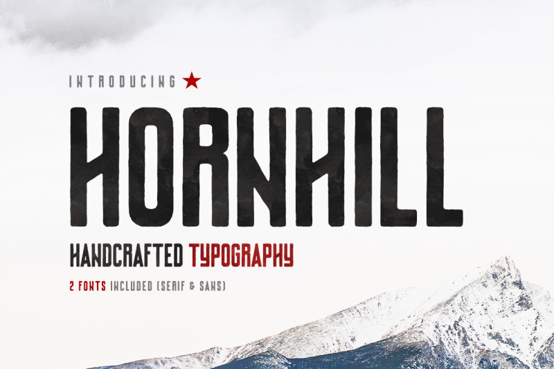 hornhill-font-family-2-fonts