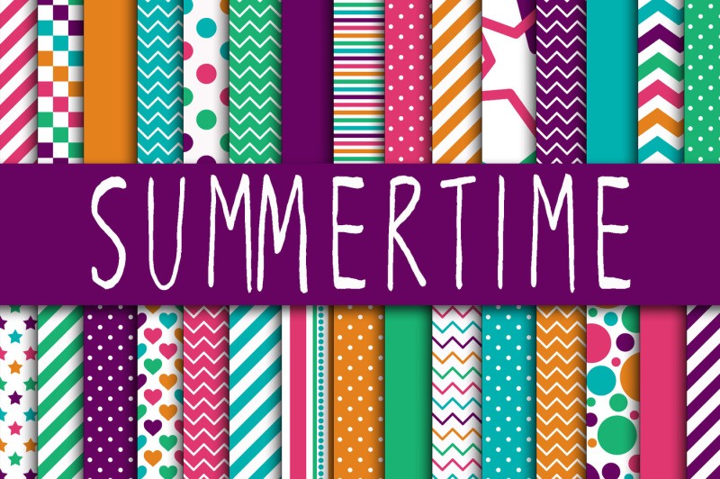 summertime-digital-papers