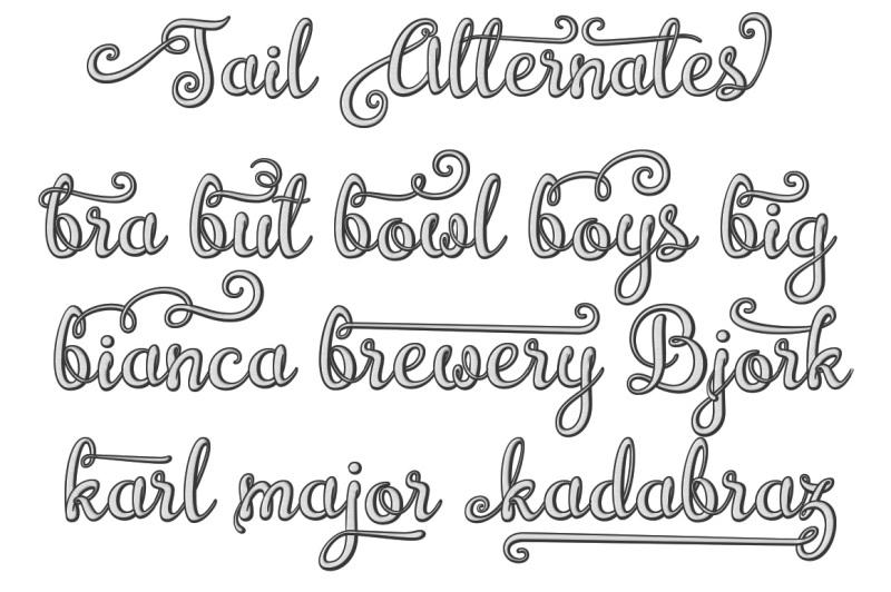 brazilian-script-layered-font