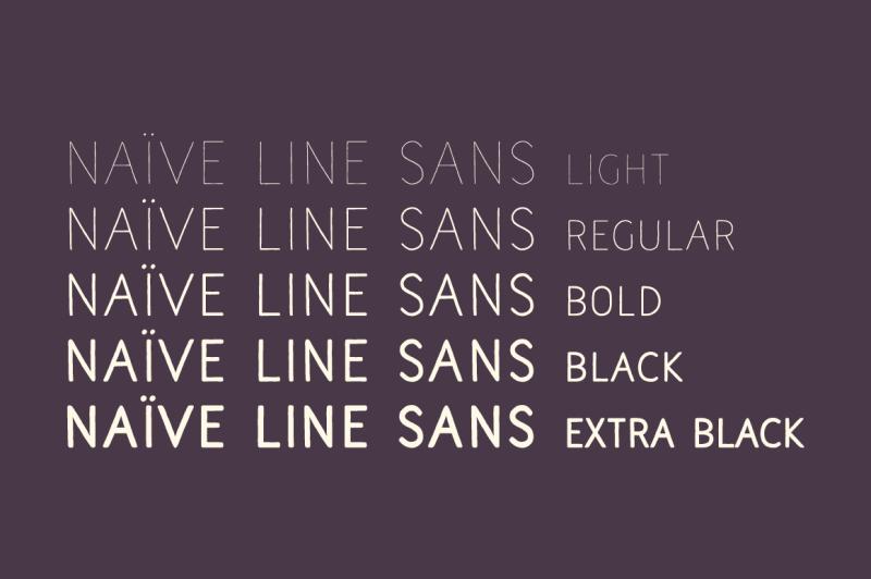 naive-line-sans-font-pack