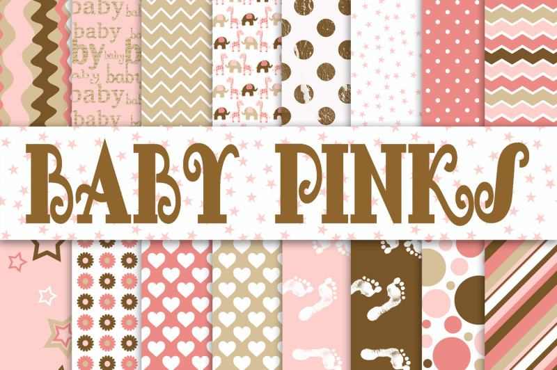 baby-girl-digital-paper-in-pinks-and-browns