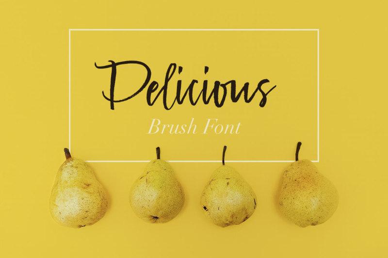 delicious-brush-font