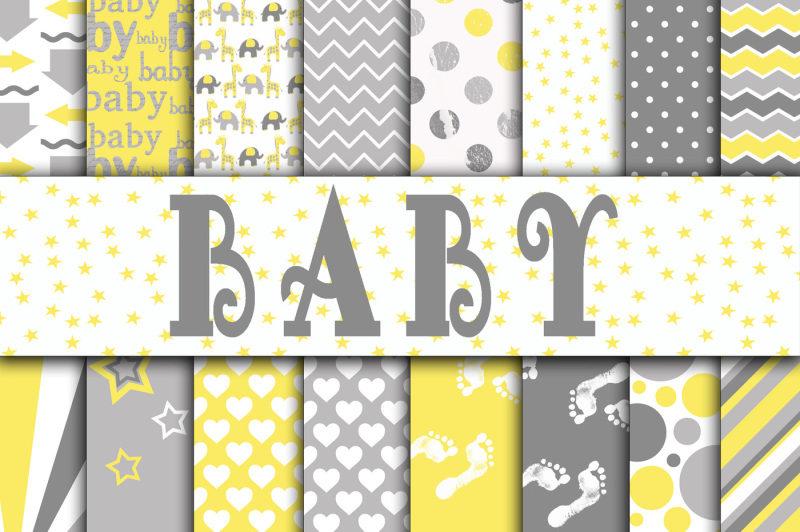 baby-digital-paper-in-grays-and-yellow