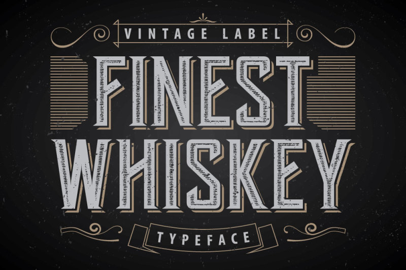 another-whiskey-label-font