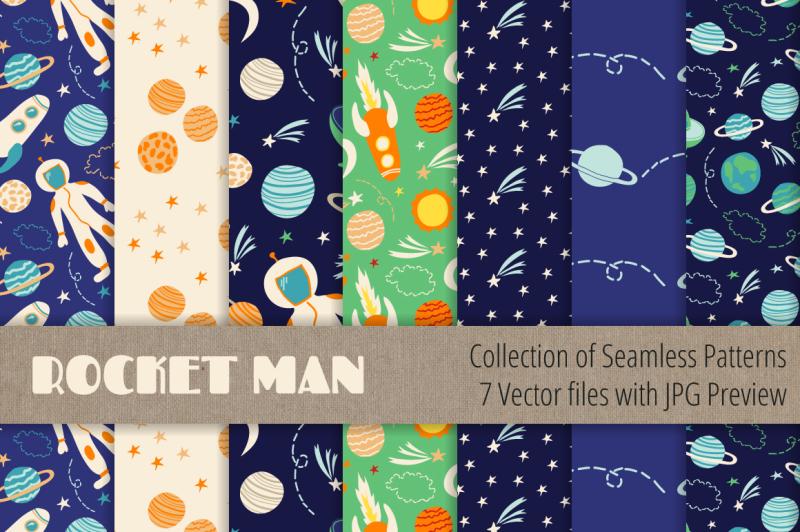 boy-seamless-patterns-vector-set