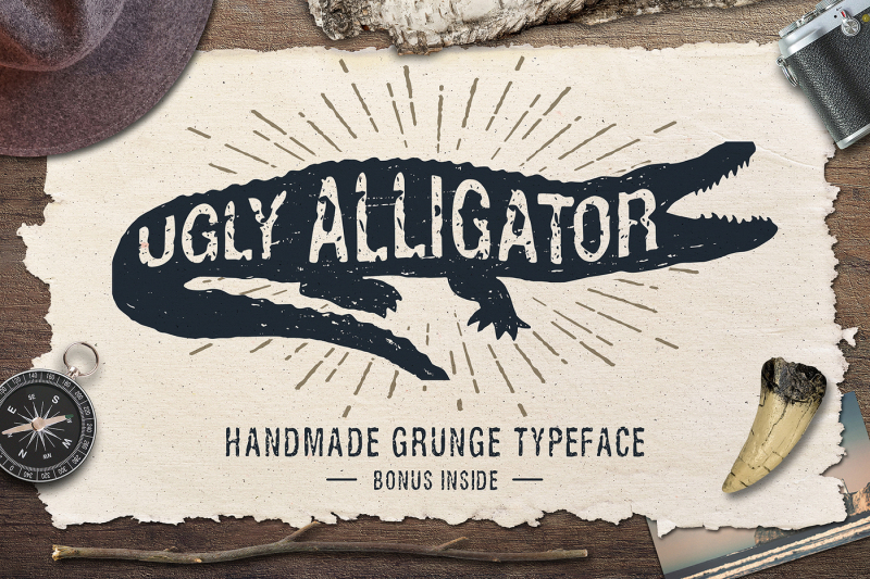 ugly-alligator-grunge-typeface