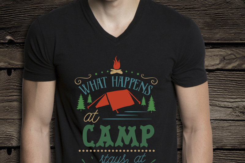 What Happens At Camp Stays At Camp Svg By Blackcatssvg Thehungryjpeg Com