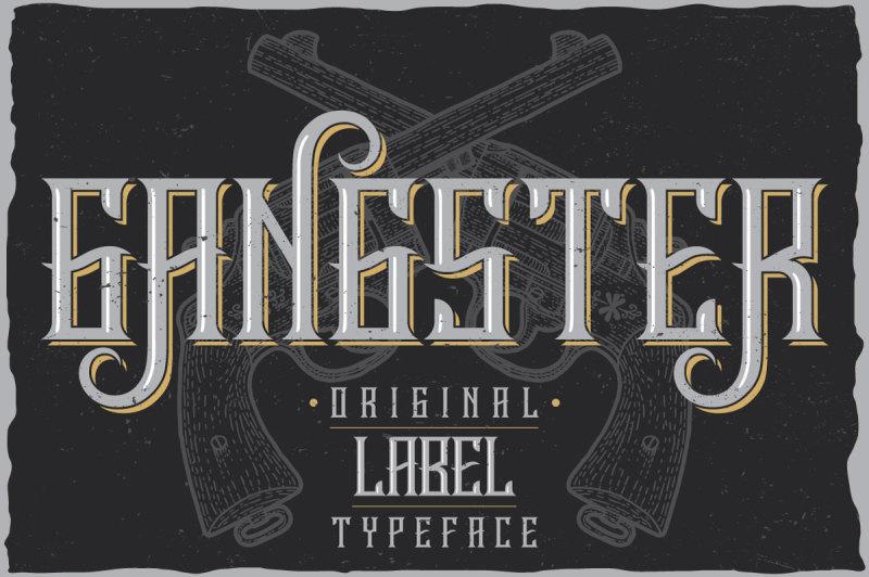 gangster-label-typeface