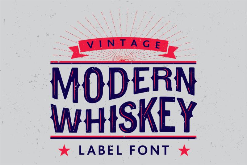 modern-whiskey-label-font