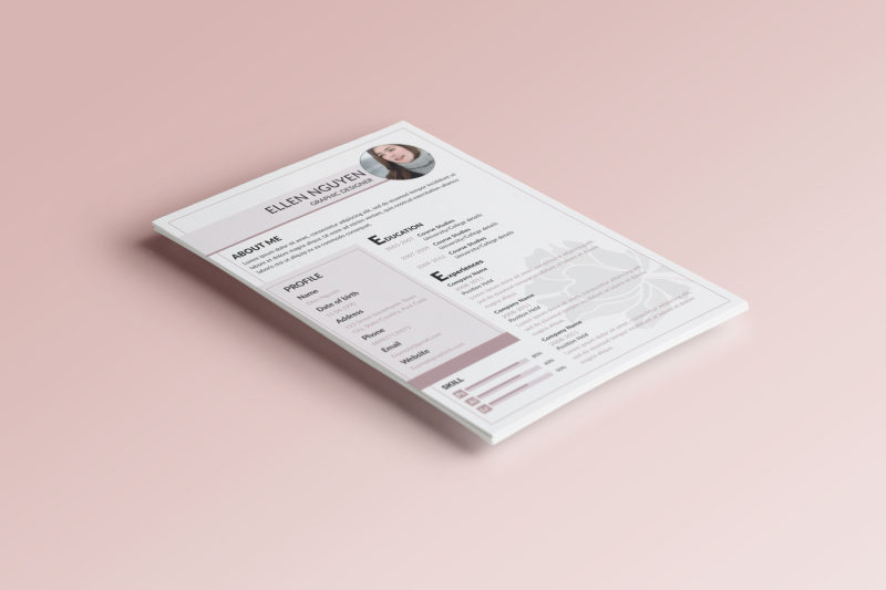 flower-resume-and-cover-letter-template