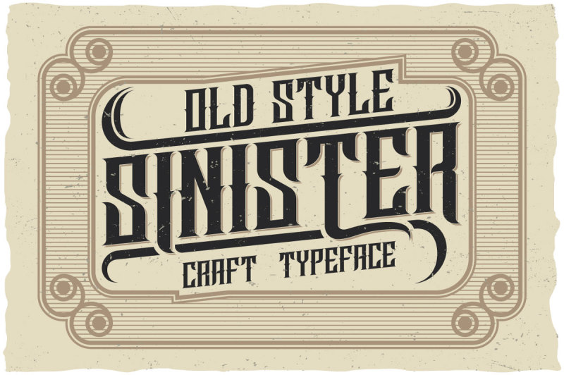 sinister-typeface