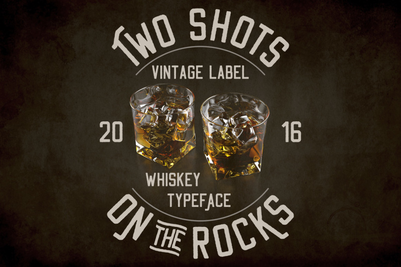 two-shots-on-the-rocks-font