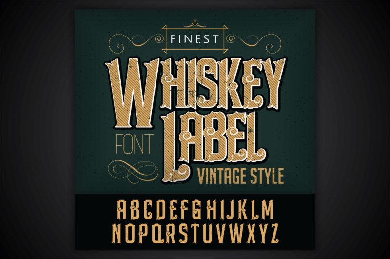 whiskey-label-font-and-sample-label