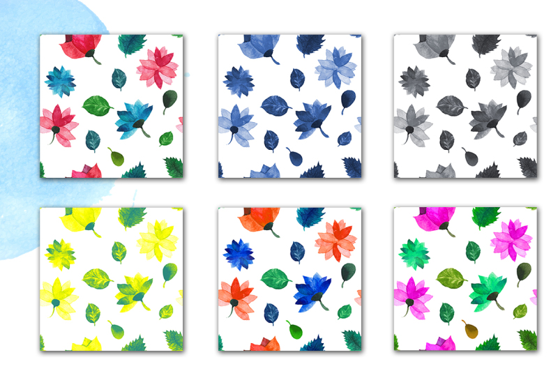 summer-watercolor-pattern-collection