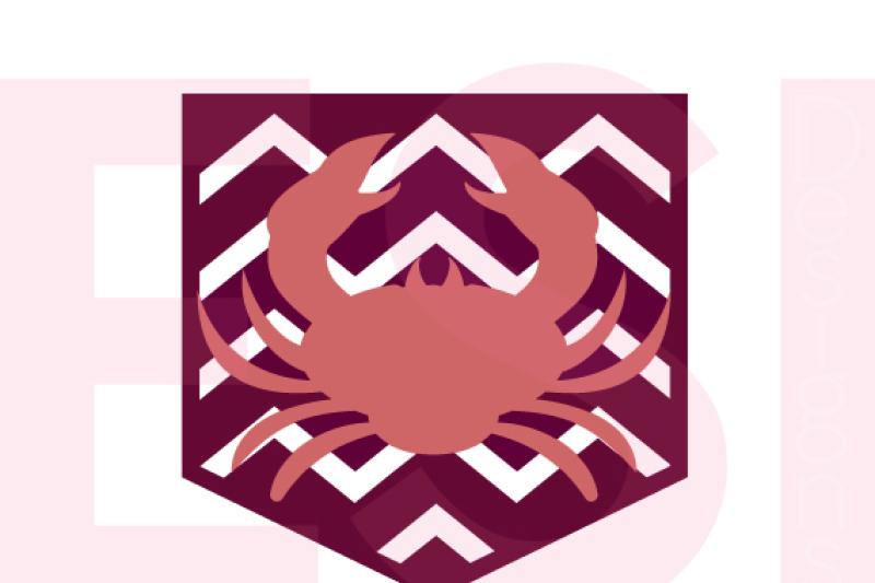 Chevron Crab Pocket Design Svg Dxf Eps Cutting Files By Esi