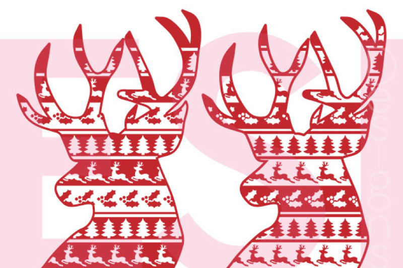 christmas-deer-heads-ugly-sweater-style-svg-dxf-eps-cutting-files