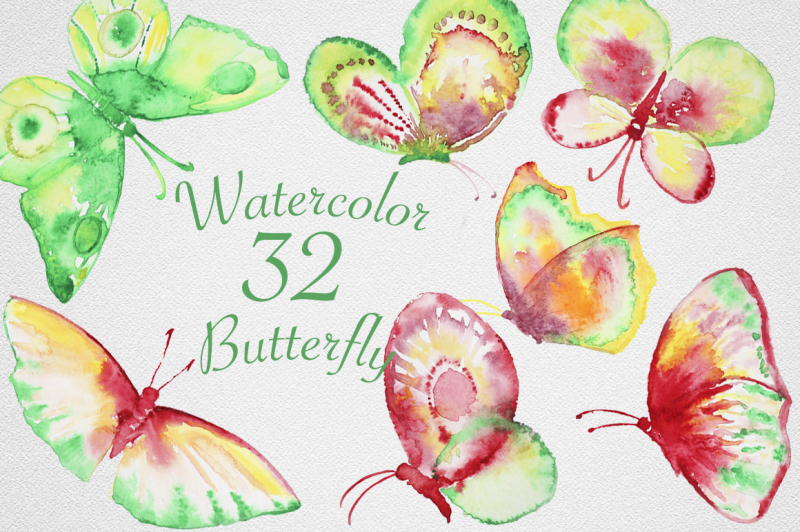 watercolor-butterfly-set-2