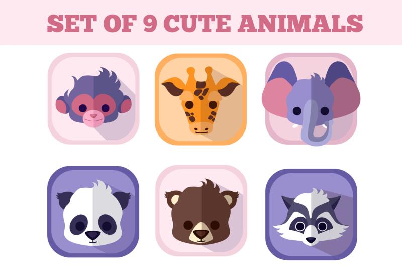 the-set-of-nine-cute-baby-animals