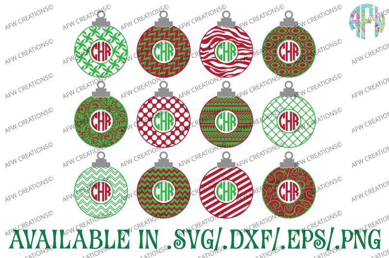 monogram-christmas-ornaments-svg-dxf-eps-cut-files