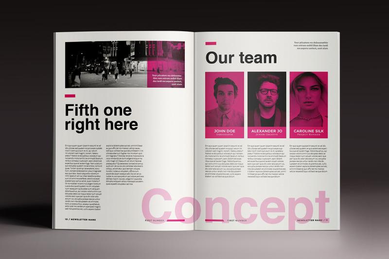 newsletter-brochure-indesign-template