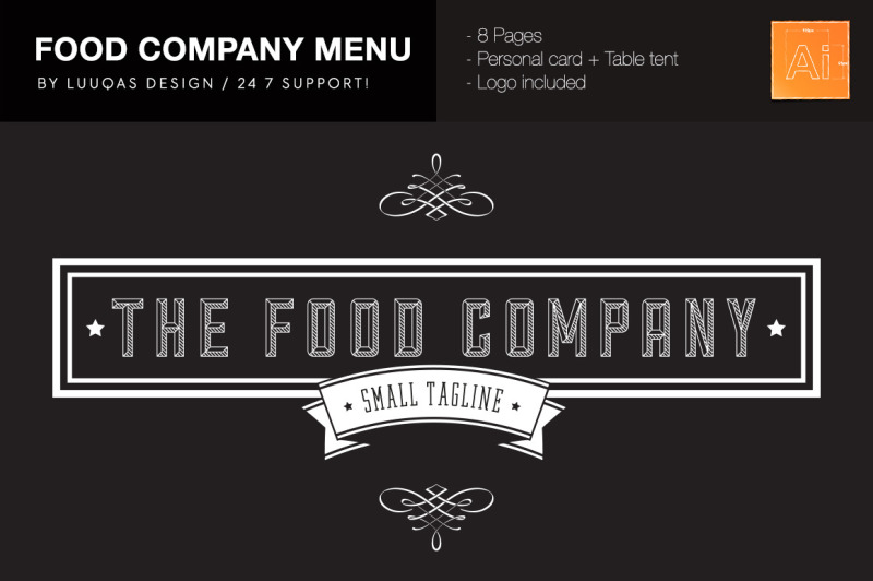food-company-menu-illustrator-template