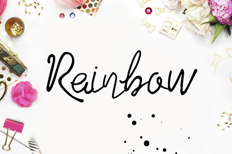rainbow-digital-font