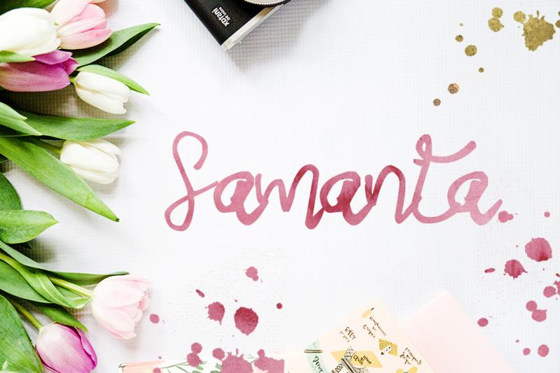 samanta-script-font