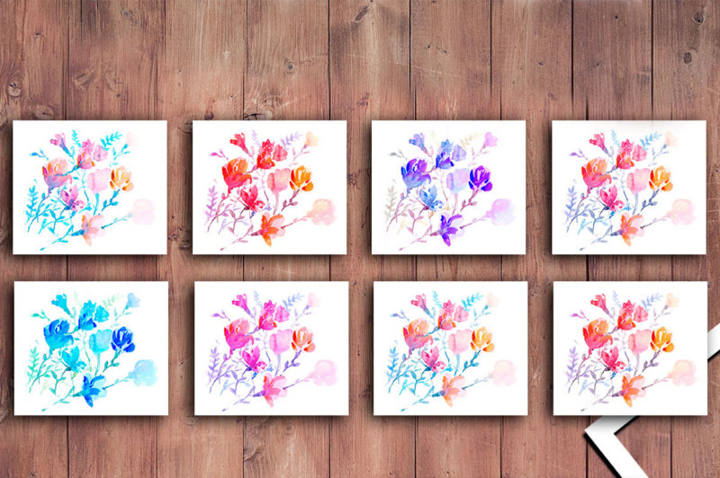 watercolors-colorful-flowers