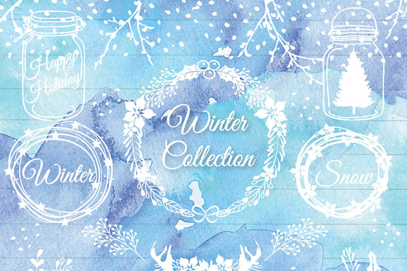 premium-vector-rustic-christmas-xmas-clipart-holiday-deer-wreath-clipart-wood