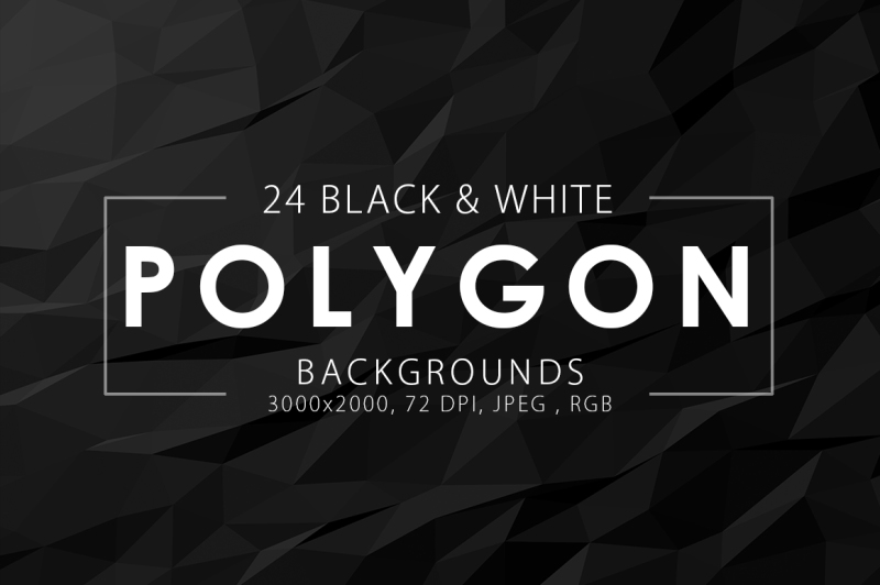 black-and-white-polygon-backgrounds